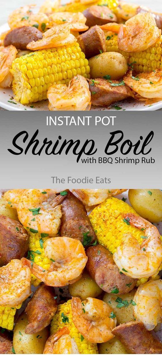 Instant Pot Shrimp Boil With BBQ Shrimp Rub