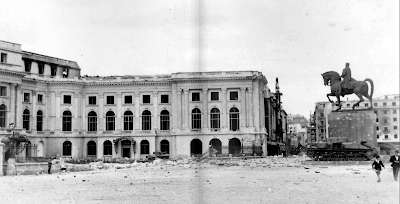Palatul Regal după bombardament arh Nicolae Nencilescu