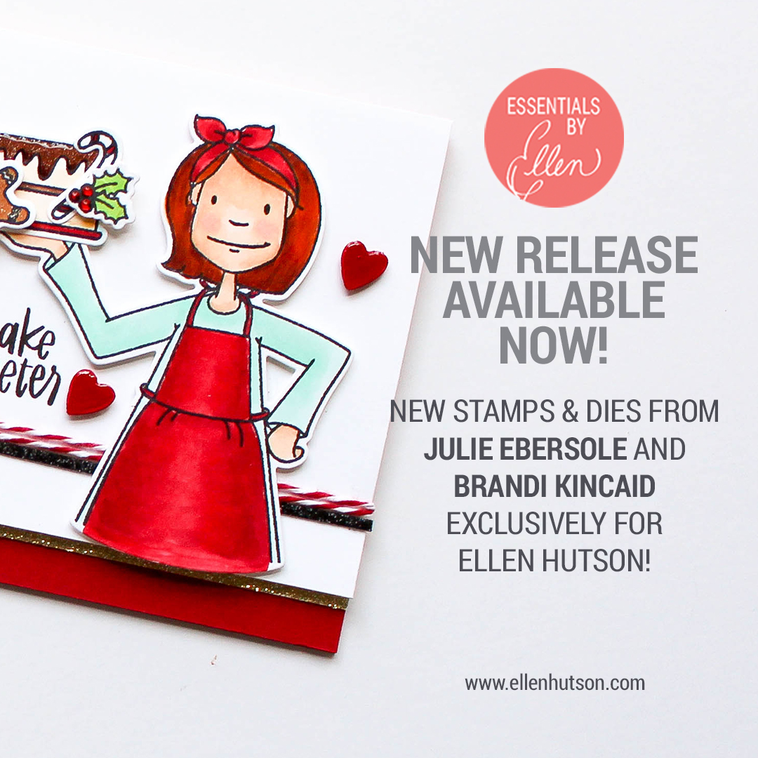 carly tee: watercolor christmas cards with the new essentials by ellen!