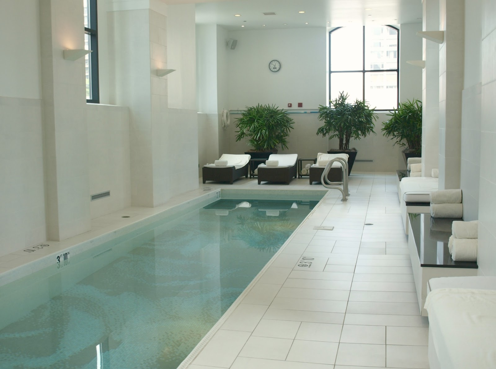 Elegant spa swimming pool Waldorf Chicago Hello Lovely Studio