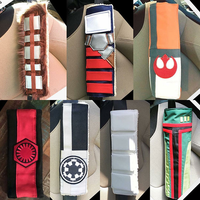 Star Wars inspired seat belt covers by Chic and Geeks