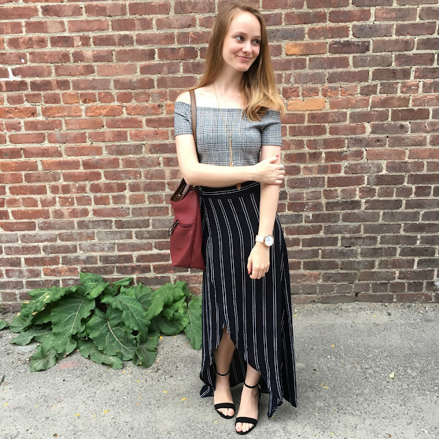 how to mix prints in fashion striped maxi wrap skirt zaful