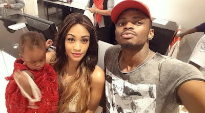 Diamond Platinumz,Child and Zari. PHOTO | Courtesy NAIJA