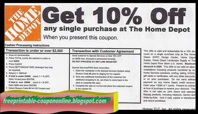 printable coupons 2018 home depot coupons. Black Bedroom Furniture Sets. Home Design Ideas