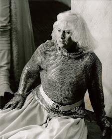Dame Anne Evans as Brünnhilde in Die Walküre at WNO in 1984 (Photo Clive Barda)