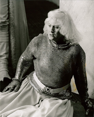 Dame Anne Evans as Brünnhilde in Die Walküre at WNO in 1984 (Photo Clive Barda)