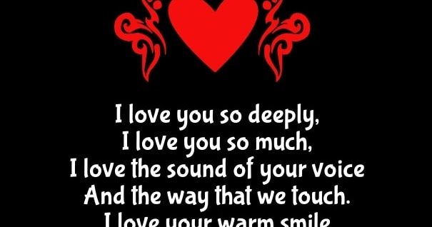 Deep I Love You Always Poems for Him From the Heart