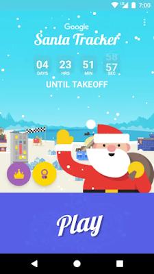 تحميل تطبيق جوجل سانتا تراكر Google Santa Tracke apk لتتبع بابا نويل الإحتفال بالعام الجديد