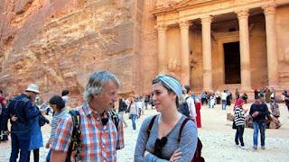 Ambos en la entrada a la ciudad de Petra