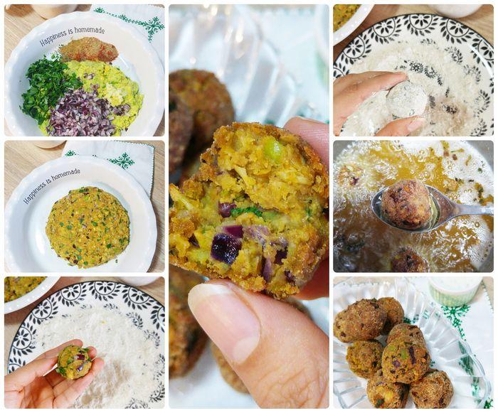 recette de Falafels de pois-chiches et fèves, cuisine libanaise, orientale, recette facile, végétarien, vegan, boulette vegetarienne aux herbes et épices, food, veggie, blog culinaire tendance, oriental food
