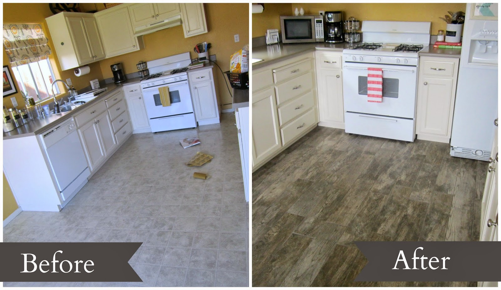 Even Though The Vinyl Flooring Was In Great Shape It Wasn T Really Doing Anything For Other Upgrades That Had Been Done Sort Of Just Blended