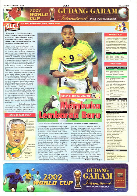 ROAD TO WORLD CUP 2002 SOUTH AFRICA TEAM PROFILE