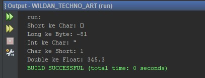 Penggunan ExplcitType Casting pada Java