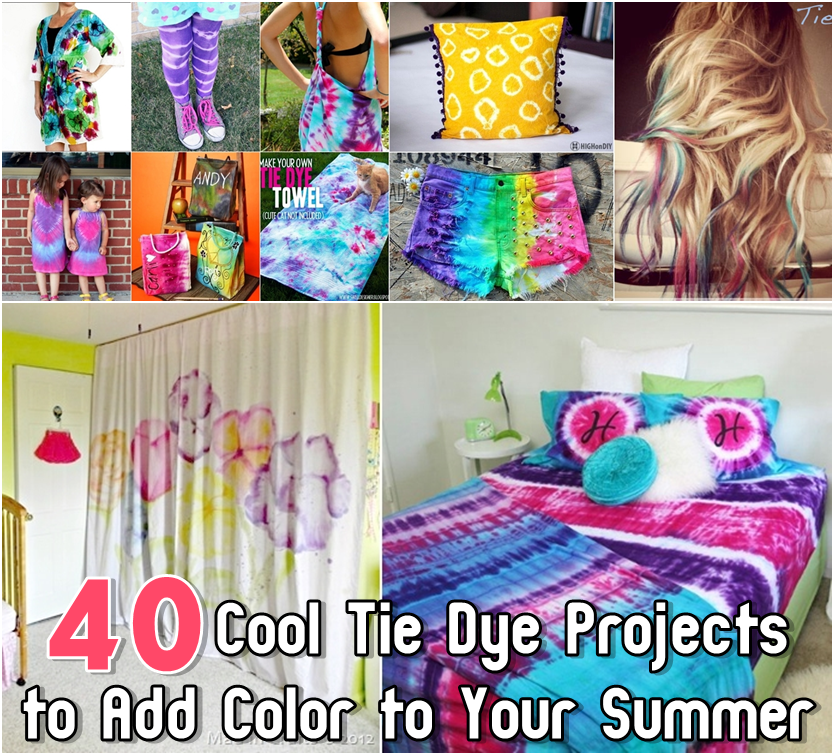 b2bb5f854812 40 Cool Tie Dye Projects to Add Color to Your Summer - DIY Craft ...