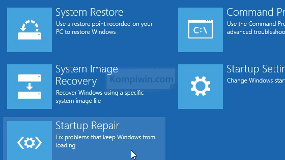 advanced boot option menu startup option