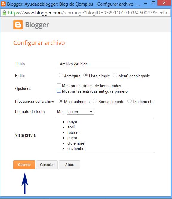 Cambiar de estilos al Archivo del blog Widget para Blogger