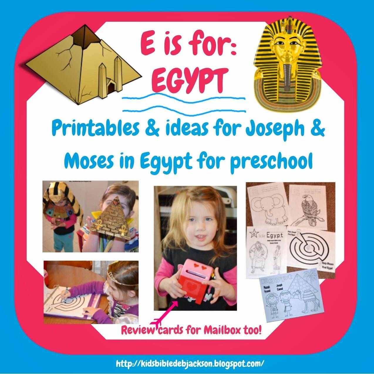 Bible Fun For Kids Preschool Alphabet E Is For Egypt