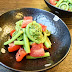 Meshida to tomato no sarada / lady fern fiddleheads and tomato salad