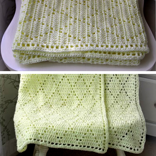 Diamond Stitch Baby Blanket - Free Pattern