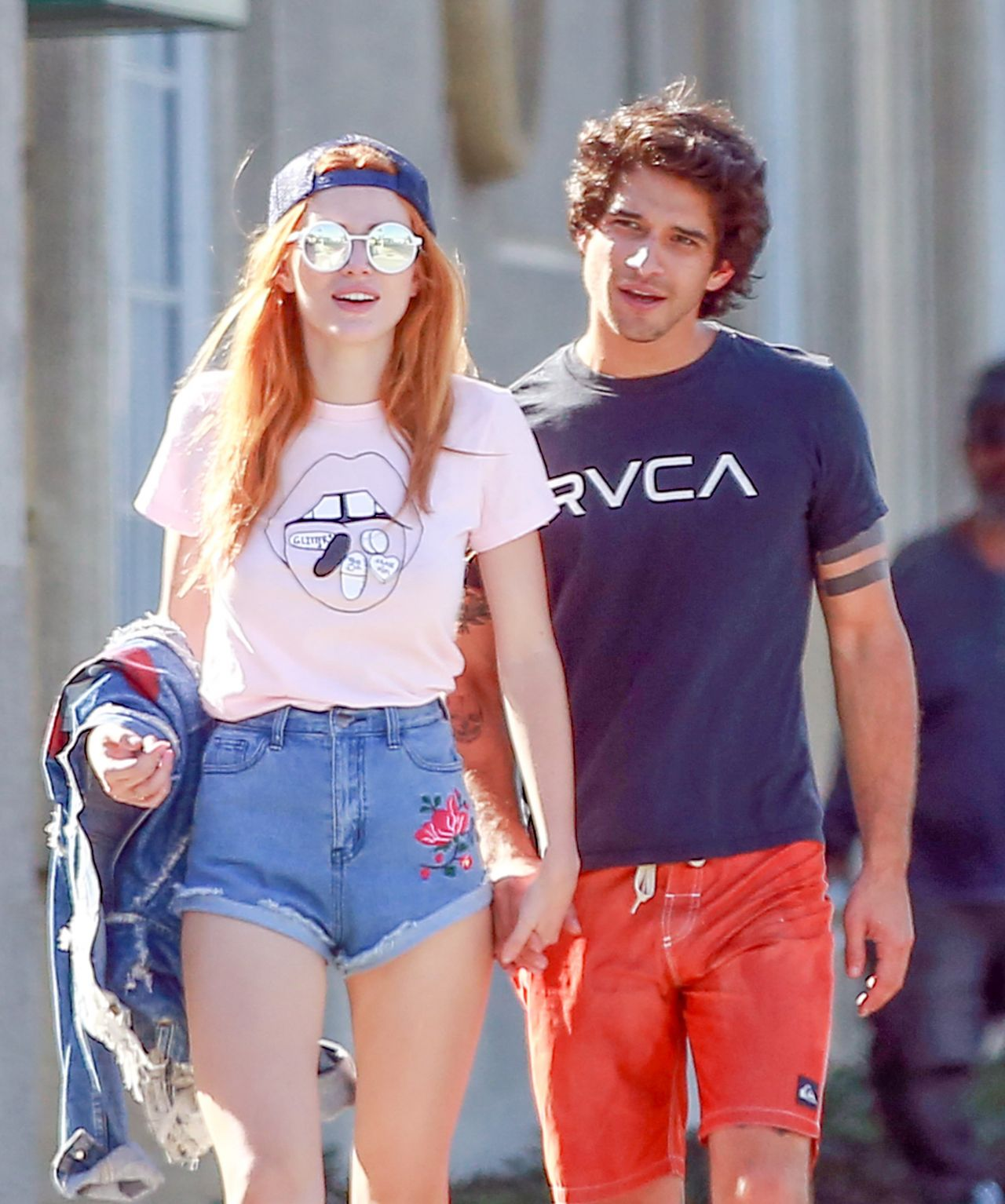 Bella Thorne in Jeans Shorts