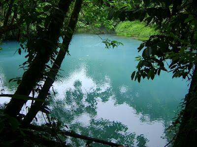 Blue color of Rio Celeste, Costa Rica