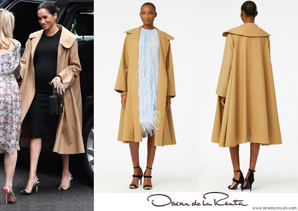 Meghan Markle wore Oscar de la Renta cotton-twill coat