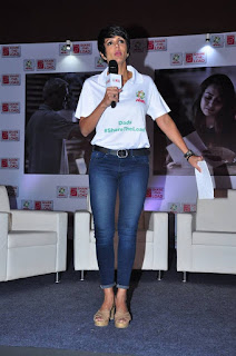 Actress Mandira Bedi Pictures in Jeans at Ariel Debate on Womens 0004