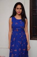 Pallavi Dora Actress in Sleeveless Blue Short dress at Prema Entha Madhuram Priyuraalu Antha Katinam teaser launch 077.jpg