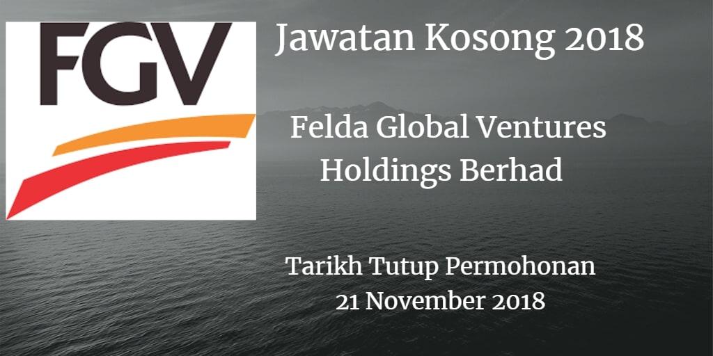 Jawatan Kosong FGV 21 November 2018
