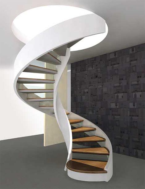 hay una gama de escaleras de caracol con peldaos de madera simples o modernos diseos de subida libre y escalinatas adornadas con decoracin grfica