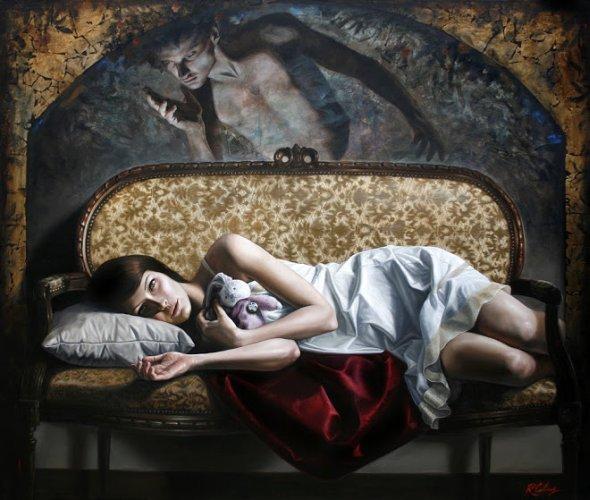 Ricardo Celma pinturas realistas estilo renascentista mulheres arte