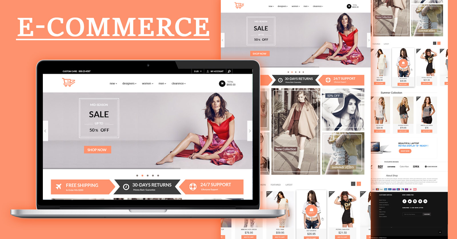 e-Commerce Website Template Design Free Download