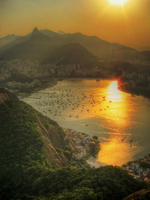 La hermosa ciudad de Río de Janeiro en Brasil.
