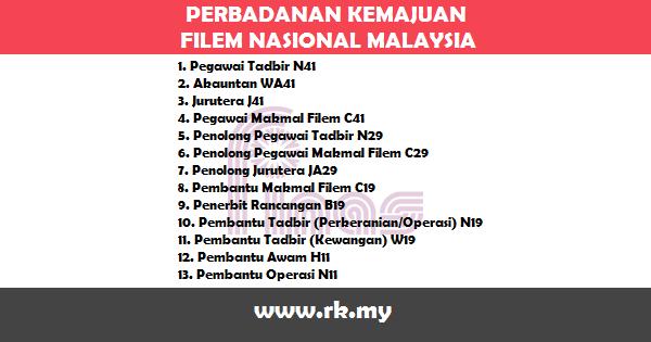 Jawatan Kosong di Perbadanan Kemajuan Filem Nasional Malaysia (FINAS)