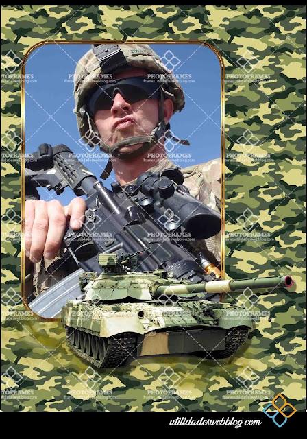Marco para fotos al estilo militar gratis