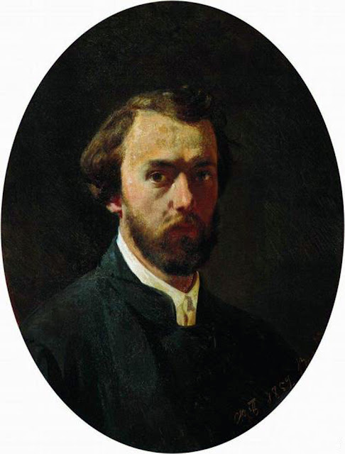 Fyodor Bronnikov, Self Portrait, Portraits of Painters, Fine arts, Portraits of painters blog, Paintings of Fyodor Bronnikov, Painter  Fyodor Bronnikov