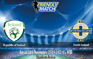 Prediksi Republic of Ireland vs North Ireland 16 November 2018