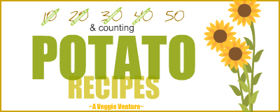 Tired of the same-old same-old potatoes? Find new inspiration in this collection of seasonal Potato Recipes ♥ AVeggieVenture.com ranging from the simple for every day and the special for occasions.