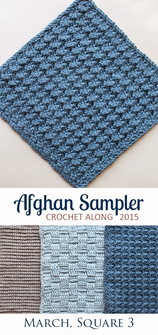 Baby Bubbles: Square 3 (March) of the 2015 Afghan Sampler -- Crochet along and have a finished blanket at the end of the year! | The Inspired Wren