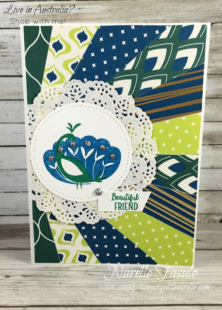 Beautiful Peacock - FREE with a qualifying order during Sale-A-Bration - get yours here - https://www3.stampinup.com/ECWeb/product/147239/beautiful-peacock-photopolymer-stamp-set?dbwsdemoid=4008228