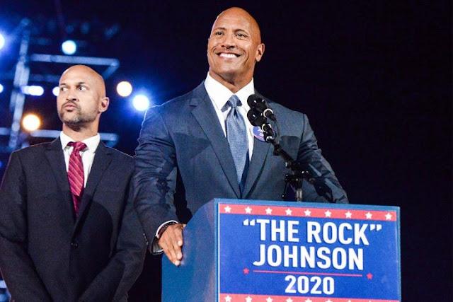¿Y si gana La Roca la presidencia de EE. UU.?