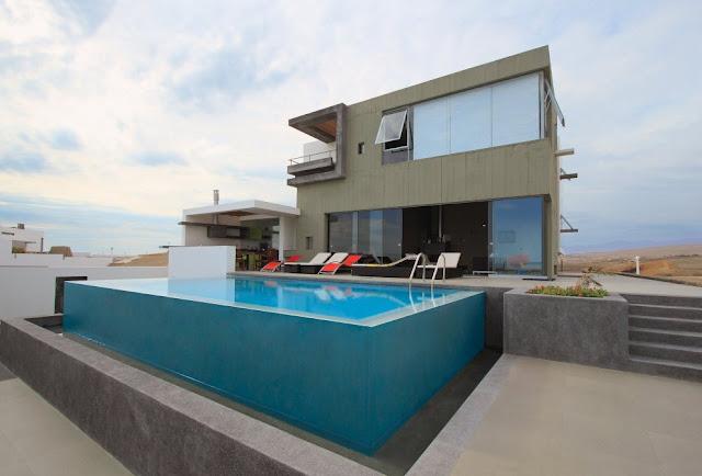 Coastal home design, Playa Misterio, Peru
