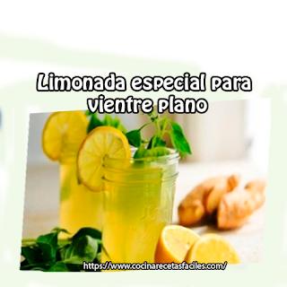 Receta de limonada especial para vientre plano✅Esta limonada ayuda a desintoxicar tu cuerpo y a mantener un vientre plano, limpia todas las impurezas de tu sistema.