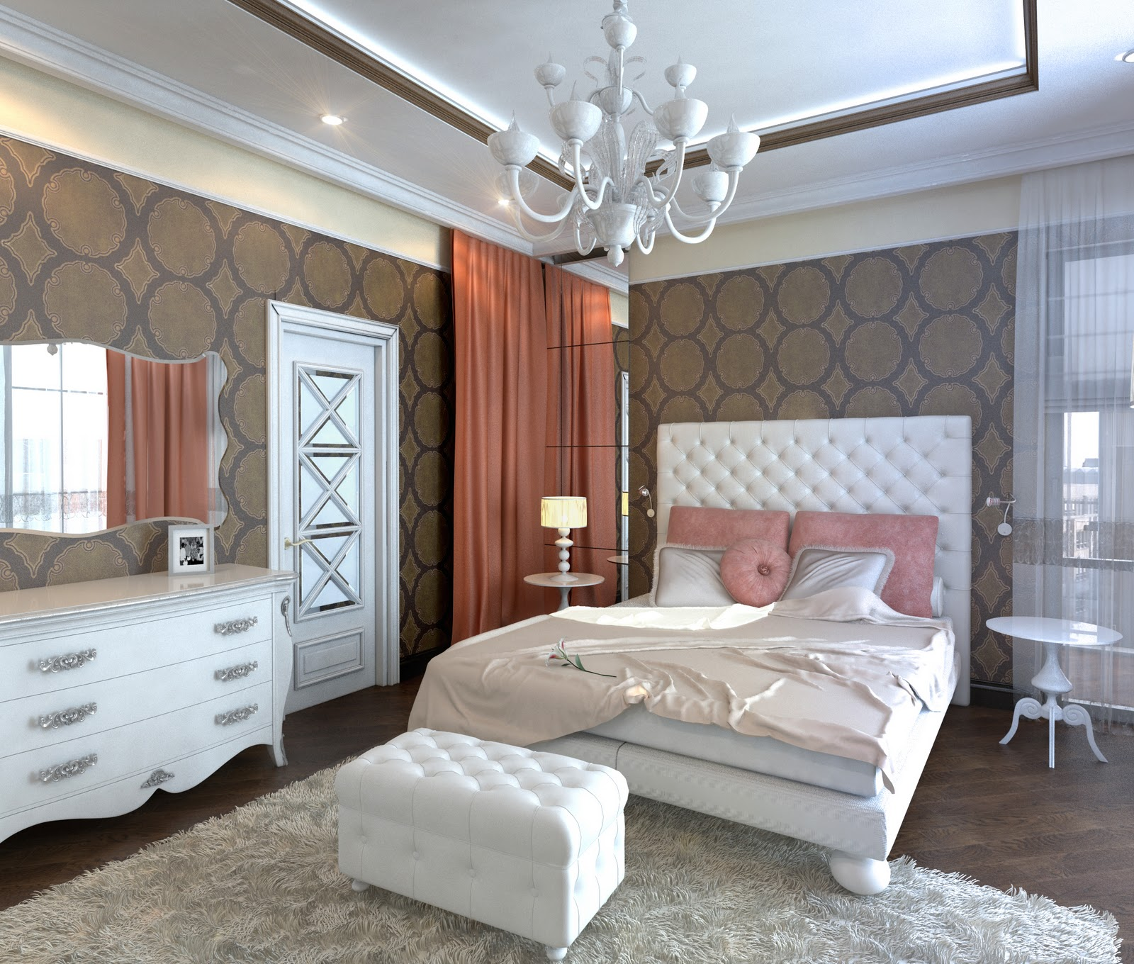 3d design bedroom art deco for Suhagrat bed decoration design