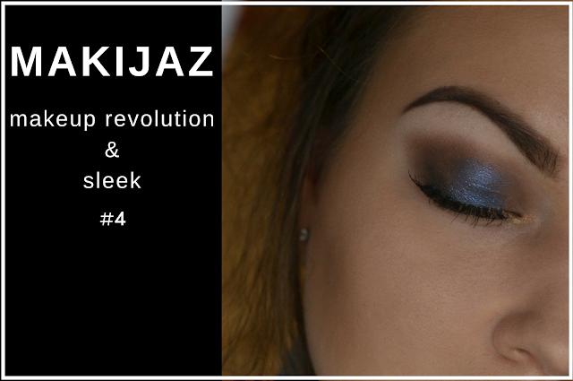 Makijaż - brąz i granat - Makeup Revolution & Sleek