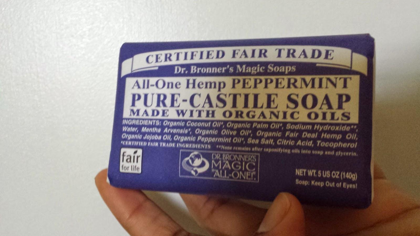 Dr. Bronner's Magic Soap 'Peppermint' bar www.modenmakeup.com