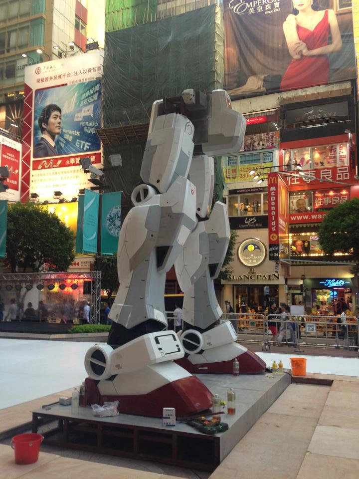 1:3 Scale RX-78-2 Gundam Vs. Char's Zaku II Statue HONG KONG