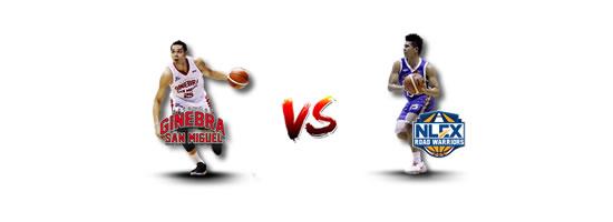 June 9: Ginebra vs NLEX, 5:00pm Legaspi City, Albay