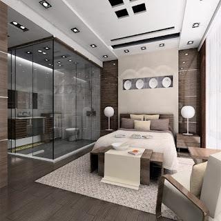 elegante dormitorio moderno