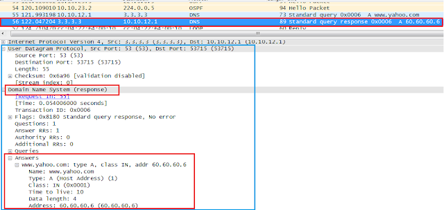 Configure a Router as DNS Server, DNS Response